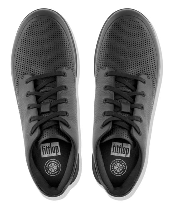 f9d8e243b60 ... Mens all All Black Sporty-Pop Softy Leather Hi-Top Sneaker - Men ...