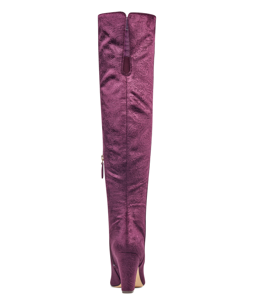 7a6c650a97b ... Womens AUBERGINE Aubergine Siventa Embossed Velvet Over-the-Knee Boot -  Alternate Image 3 ...