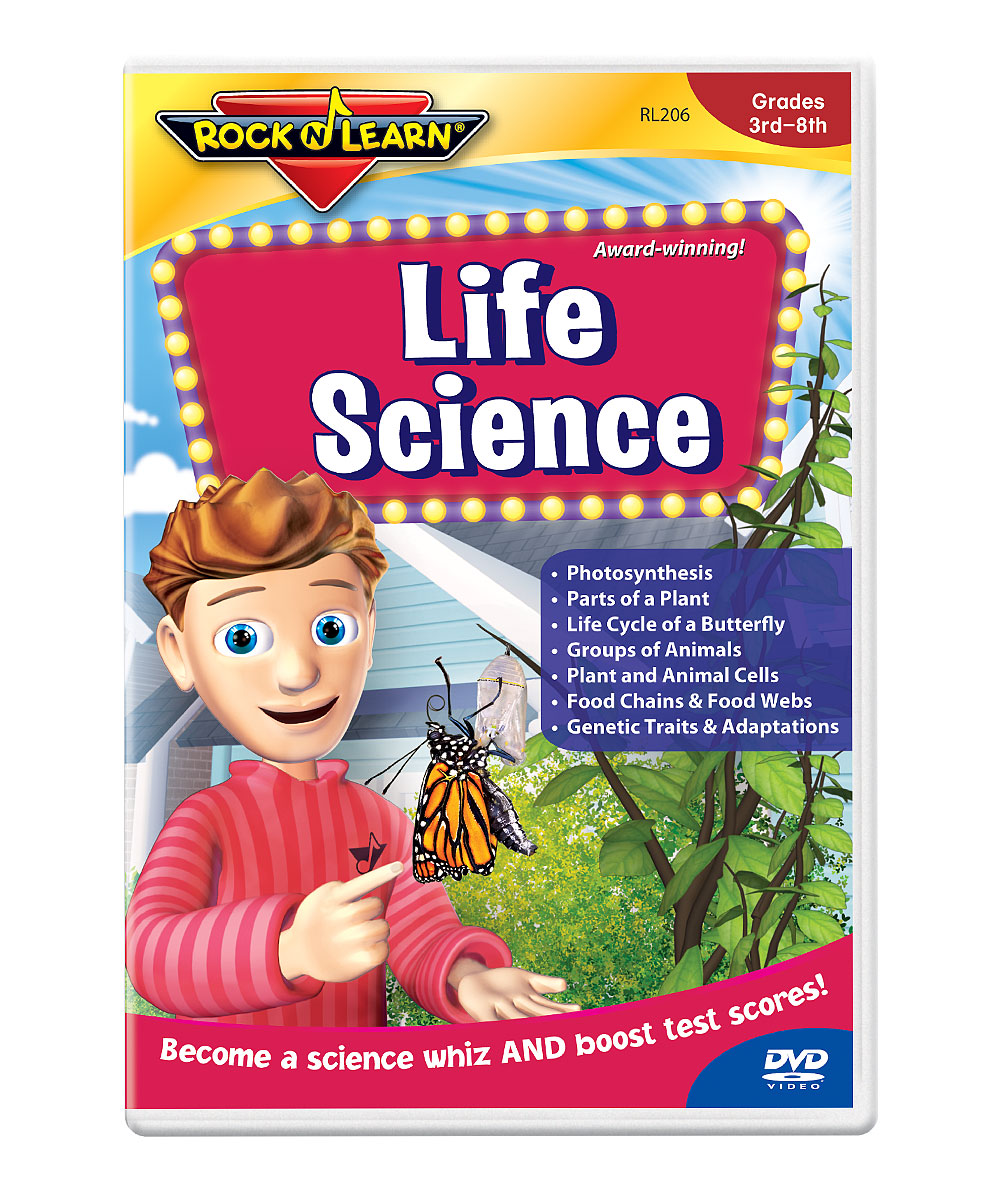 Life Science DVD Life Science DVD. Winner of over 150 awards, Rock 'N Learn programs teach and entertain with music, humor and fun characters. Augment learning with a DVD as entertaining as it is educational. With the help of Marko the Pencil, students will learn about life science, from the parts of a plant and ecosystems to the life cycle of a butterfly and genetic traits and adaptations. See how it works. Run time: approx. 59 minutesRecommended for grades 3 to 8