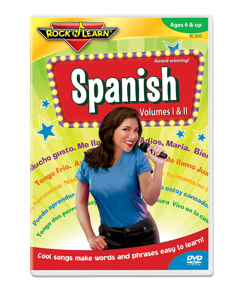 Spanish DVD Spanish DVD. Winner of over 150 awards, Rock 'N Learn programs teach and entertain with music, humor and fun characters. Augment learning with a DVD as entertaining as it is educational. With the help of catchy songs and energetic performers, students will master Spanish as they learn about counting, colors, the calendar, directions, parts of the body and more. See how it works. Run time: approx. 55 minutesRecommended for ages 6 years and up