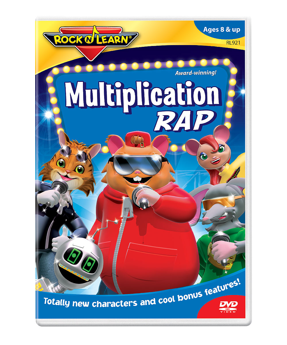Multiplication Rap DVD Multiplication Rap DVD. Winner of over 150 awards, Rock 'N Learn programs teach and entertain with music, humor and fun characters. Augment learning with a DVD as entertaining as it is educational. Students will learn all about multiplication, including multiplication tables through 12 and skip counting. See how it works. Run time: approx. 50 minutesRecommended for ages 8 years and upMade in the USA