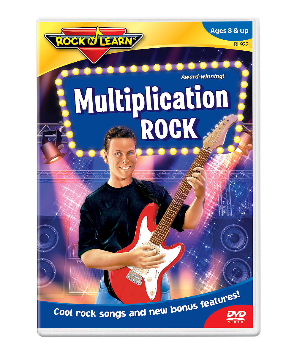 Multiplication Rock DVD Multiplication Rock DVD. Winner of over 150 awards, Rock 'N Learn programs teach and entertain with music, humor and fun characters. Augment learning with a DVD as entertaining as it is educational. With the help of catchy songs and fun characters, students will learn all about multiplication, including multiplication tables through 12 and skip counting. See how it works. Run time: approx. 50 minutesRecommended for ages 8 years and up