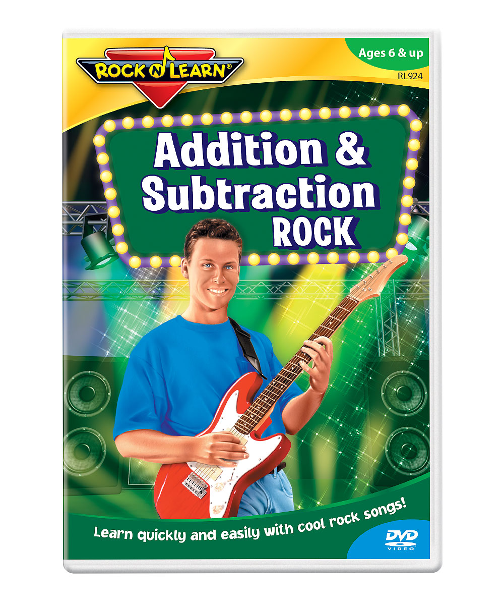 Addition & Subtraction Rock DVD Addition & Subtraction Rock DVD. Winner of over 150 awards, Rock 'N Learn programs teach and entertain with music, humor and fun characters. Augment learning with a DVD as entertaining as it is educational. With the help of upbeat music and energetic performers, students will learn about addition and subtraction, solving sums up to 18 and differences from 18. See how it works. Run time: approx. 40 minutesRecommended for ages 6 years and up
