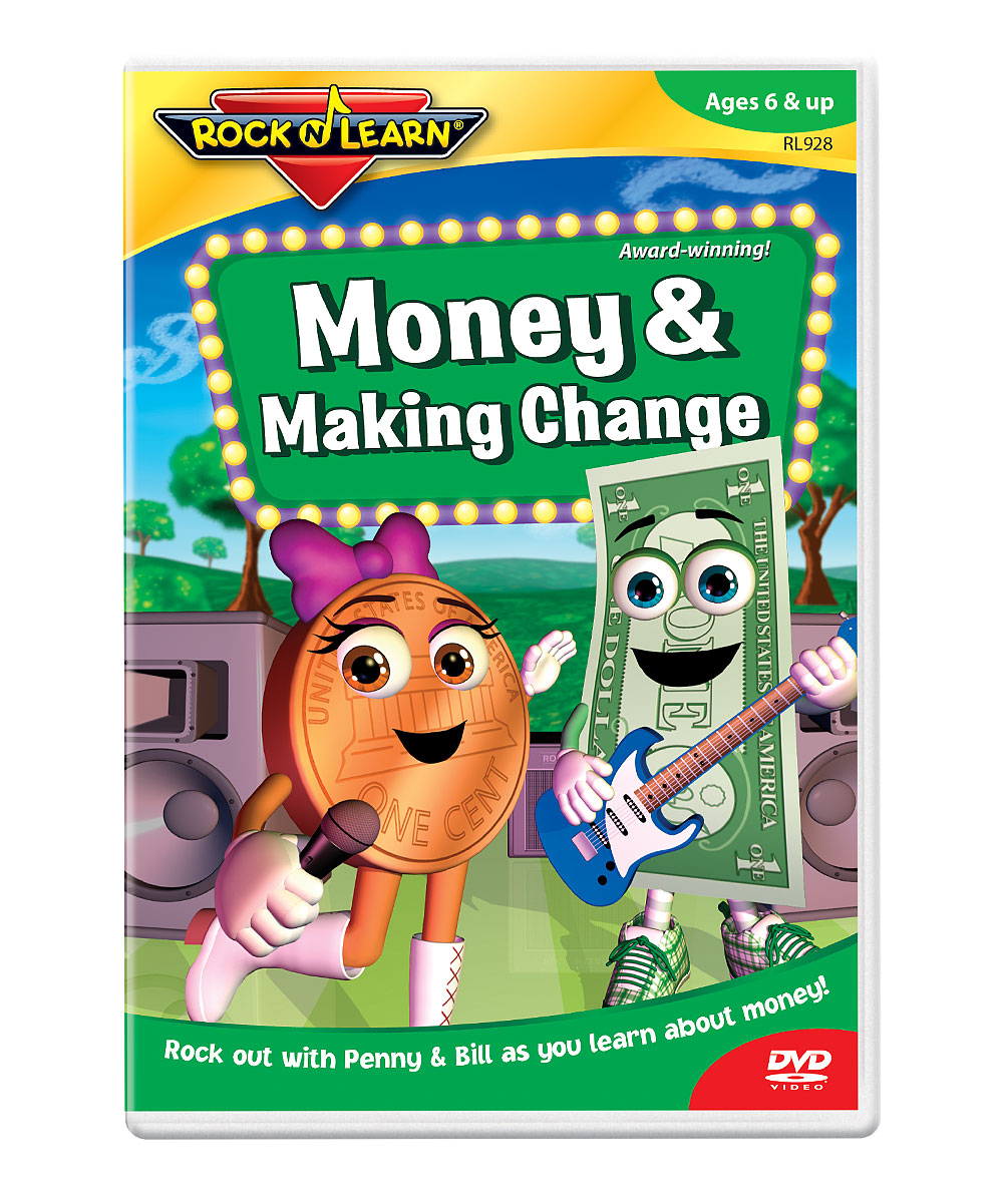 Money & Making Change DVD Money & Making Change DVD. Winner of over 150 awards, Rock 'N Learn programs teach and entertain with music, humor and fun characters. Augment learning with a DVD as entertaining as it is educational. With the help of Penny and Bill, students will learn about money through lessons on coins and how they relate to one another, counting coins and cash, and strategies for making change. See how it works. Run time: approx. 58 minutesRecommended for ages 6 years and upImportedImported