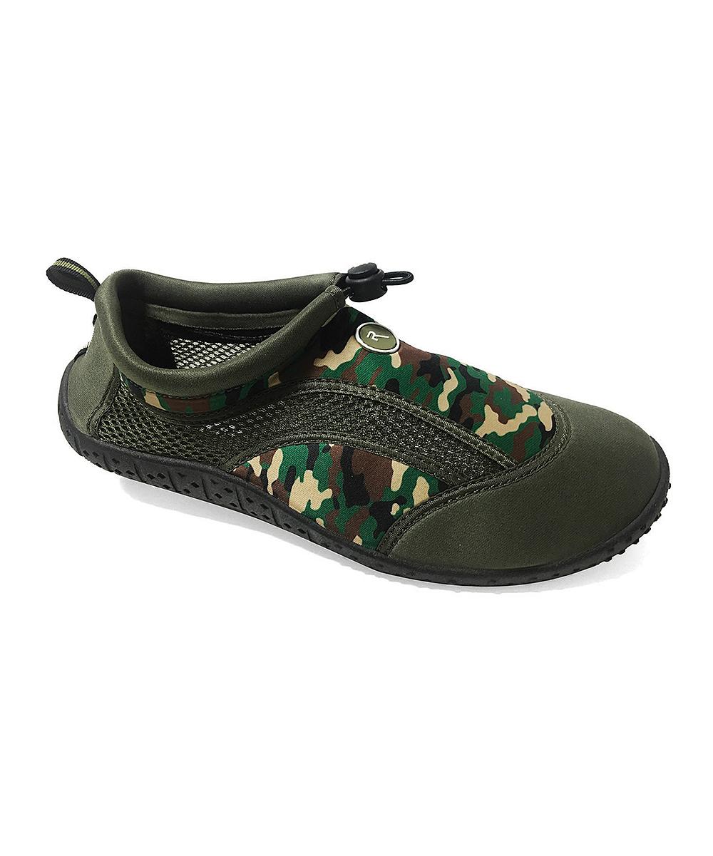 Rockin Footwear Men's Water shoes GREEN - Green Aqua Camo Water Shoe - Men