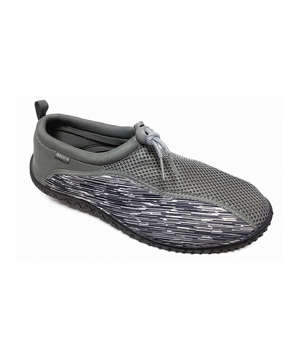 Rockin Footwear Men's Water shoes CHARCOAL - Charcoal Aqua Storms Water Shoe - Men