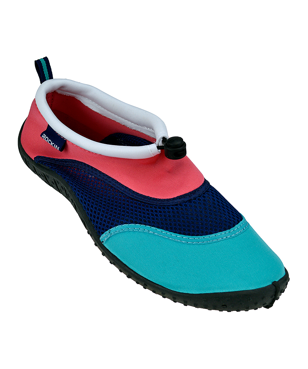 Rockin Footwear Men's Water shoes CORAL - Coral Aqua Three-Tone Water Shoe - Men