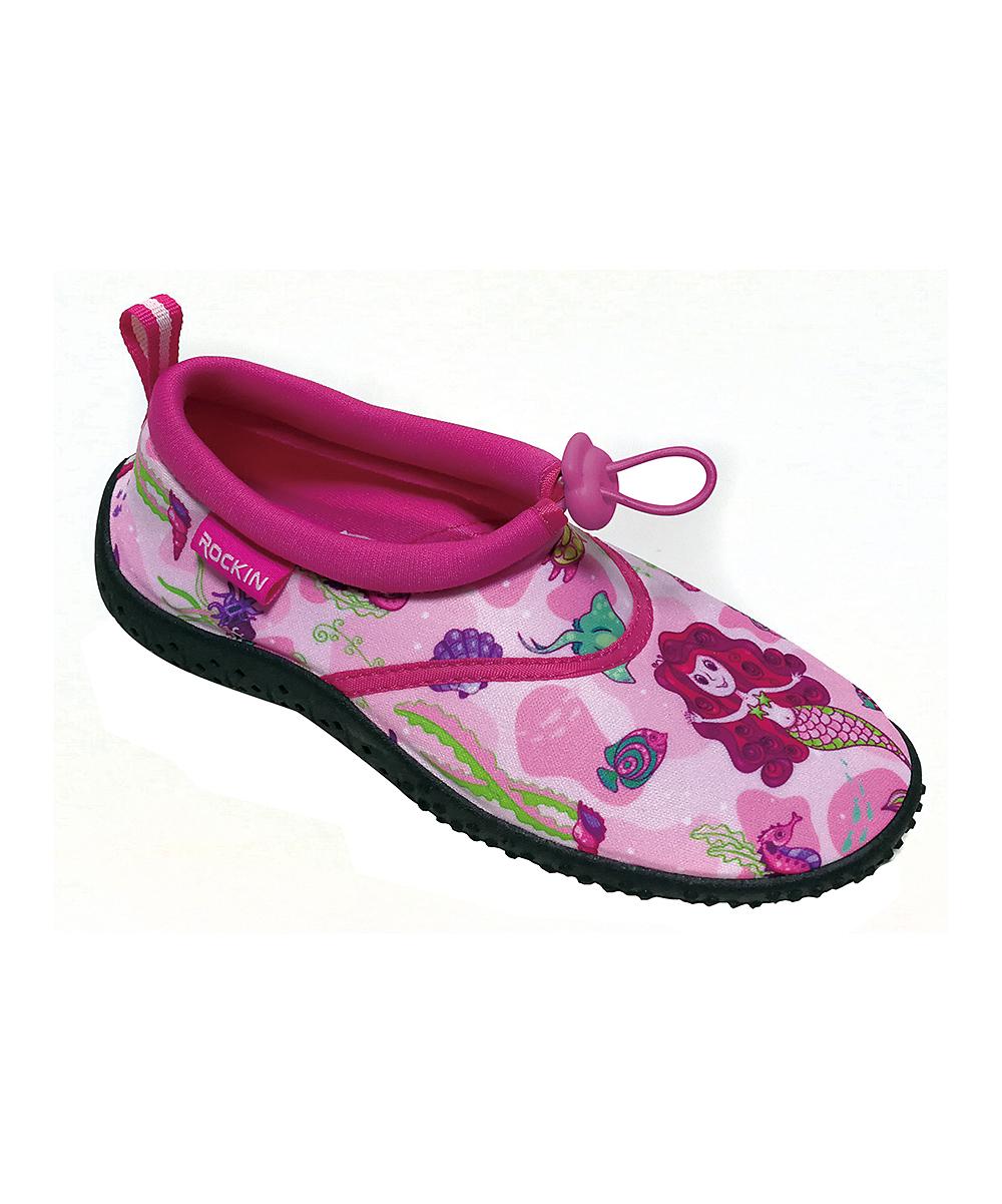 Rockin Footwear Girls' Water shoes PINK - Pink Aqua Mermaid Water Shoe - Girls