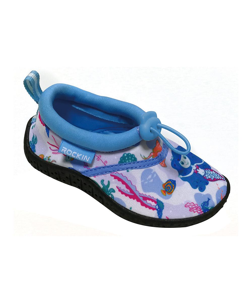 Rockin Footwear Girls' Water shoes BLUE - Blue Aqua Mermaid Water Shoe - Girls