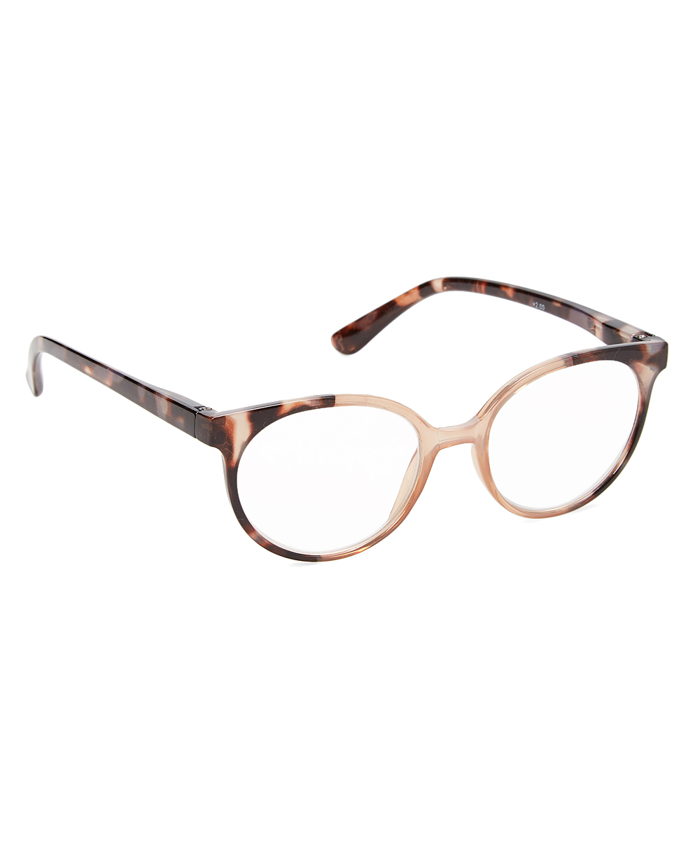 Brown Tortoise Oval Readers - Women Brown Tortoise Oval Readers - Women. Keep your vision in focus with the help of these oval reading glasses decorated with a vibrant design for added charm. Includes readers and caseLens width: 50 mmBridge distance: 20 mmArm length: 150 mmPlasticImported