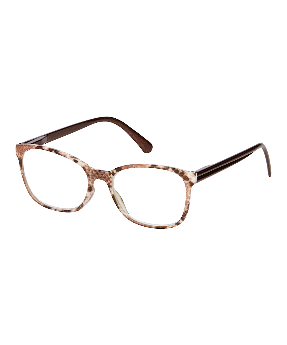 I Heart Eyewear Women's Reading Glasses Brown - Brown Snake Square Readers