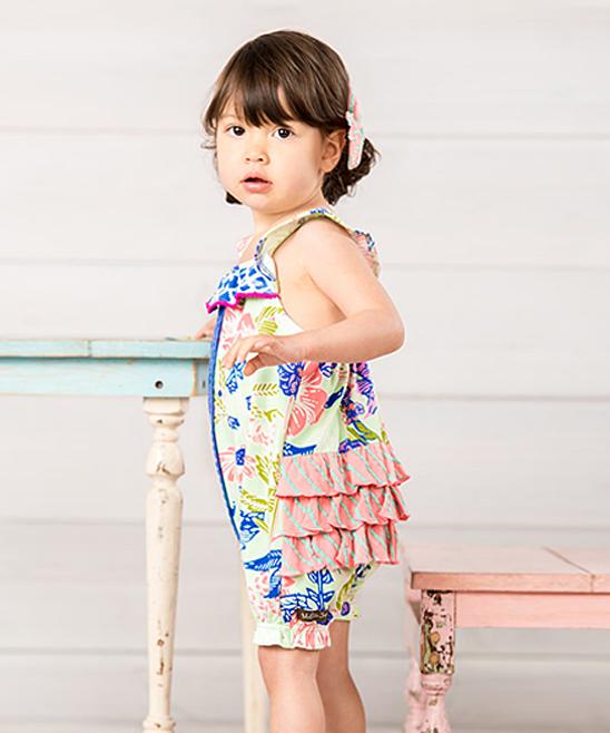 deee9c9fd52c Matilda Jane Clothing Blue Floral Sleeveless Parachute Romper ...