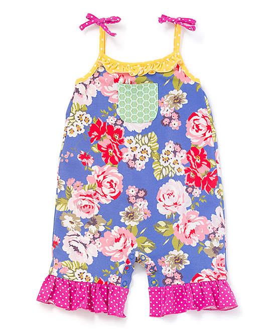 31a2e8cf60c3 Matilda Jane Clothing Periwinkle Floral Summer Adventure Ruffle-Hem ...