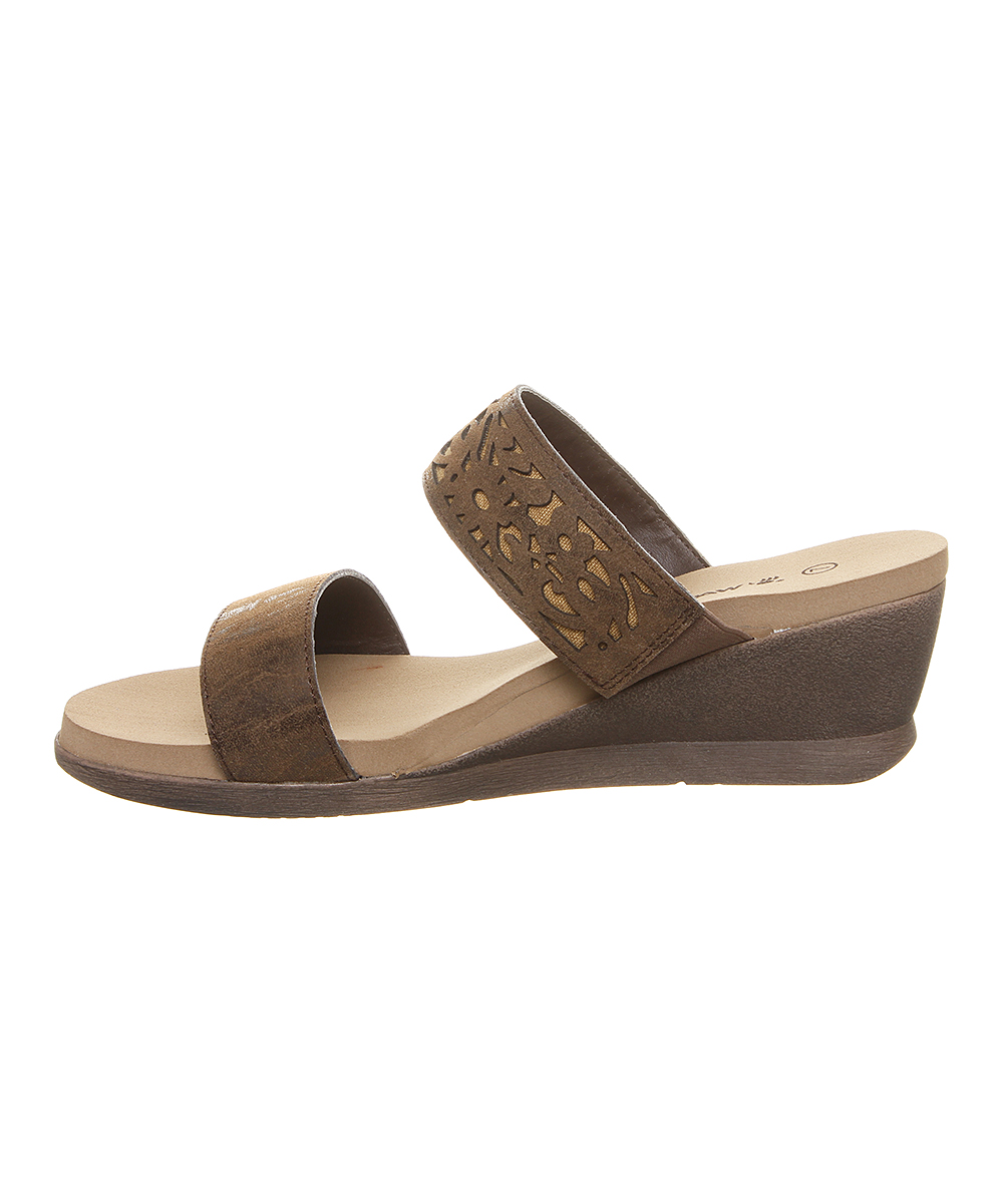 5935cbe27 BEARPAW Dark Brown Noelle Wedge Sandal - Women