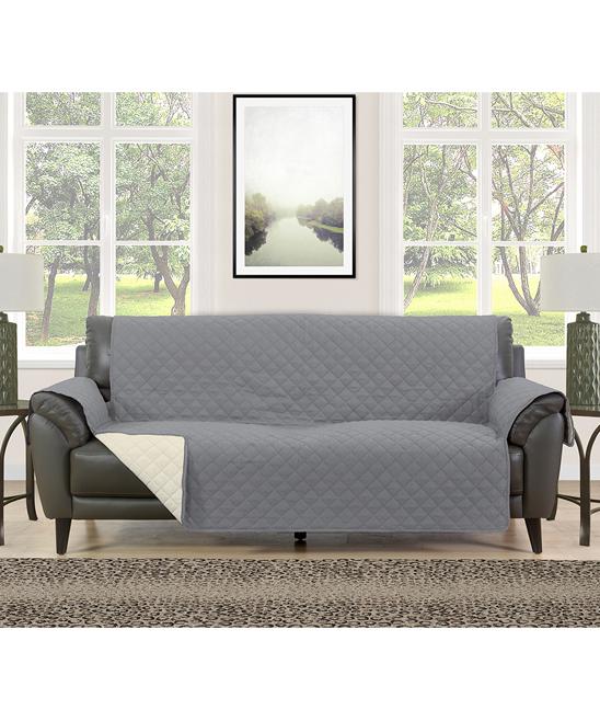 Morgan Home Collection Gray   Cream Reversible Furniture Protector ... 2e14961a5a