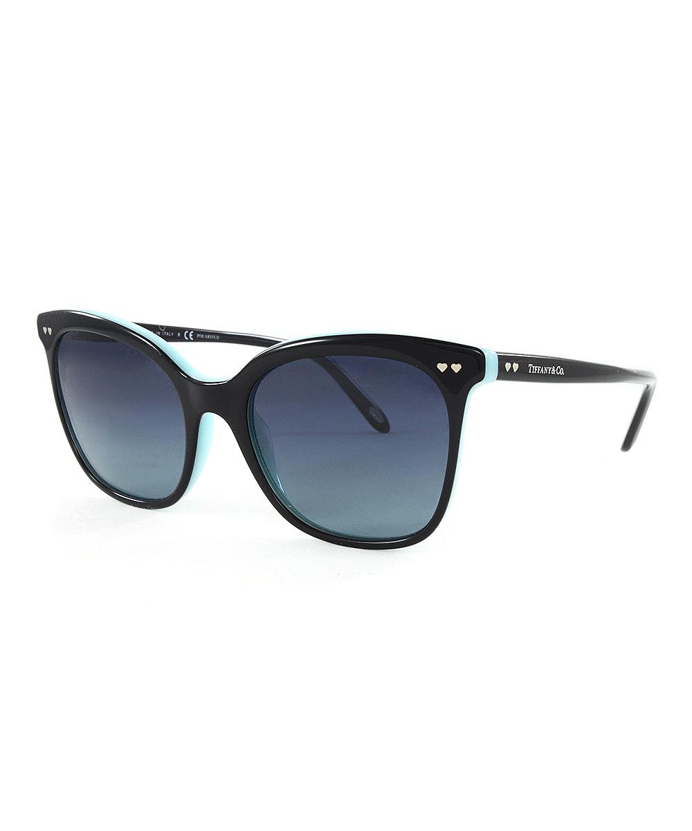 62b13c2eb0 all gone. Black   Blue Gradient Polarized Heart-Accent Square Sunglasses