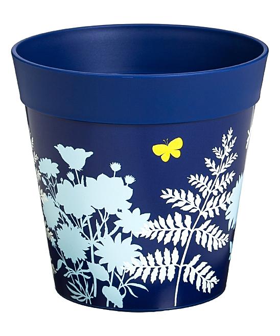 Blue 6'' Plants & Butterflies Hum Pot