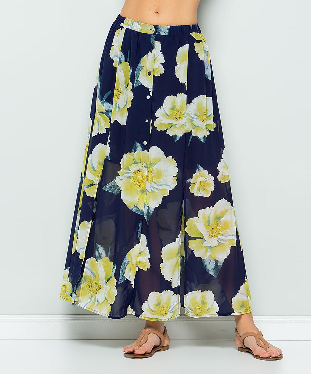 d1bdbe3af Navy Floral Print Maxi Skirt – DACC