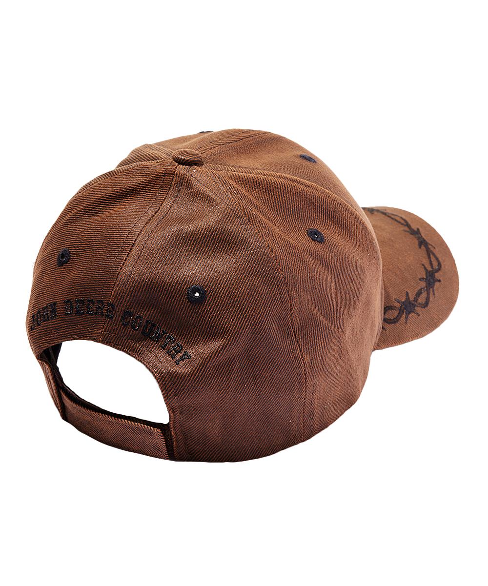 81df94545a9 ... Mens Brown Brown Oilskin  John Deere  Logo Baseball Cap - Alternate ...