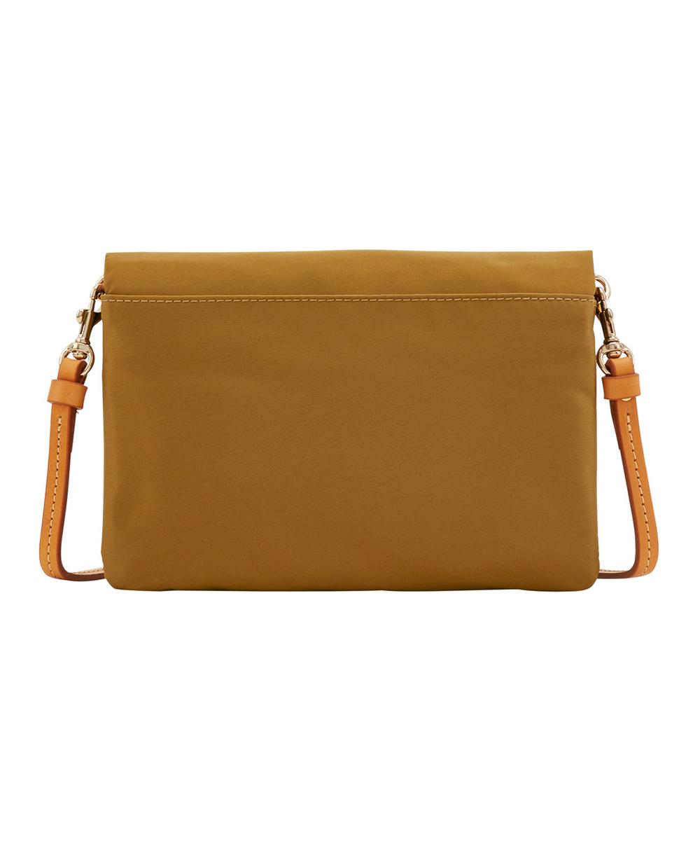 love this product Khaki Fold-Over Zip Crossbody Bag