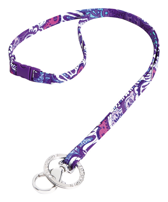 Lilac Tapestry Iconic Breakaway Lanyard Lilac Tapestry Iconic Breakaway Lanyard. Keep your ID at hand and fabulous with this colorful lanyard with a convenient breakaway design.0.5'' W x 18.5'' L100% cotton Spot cleanImported
