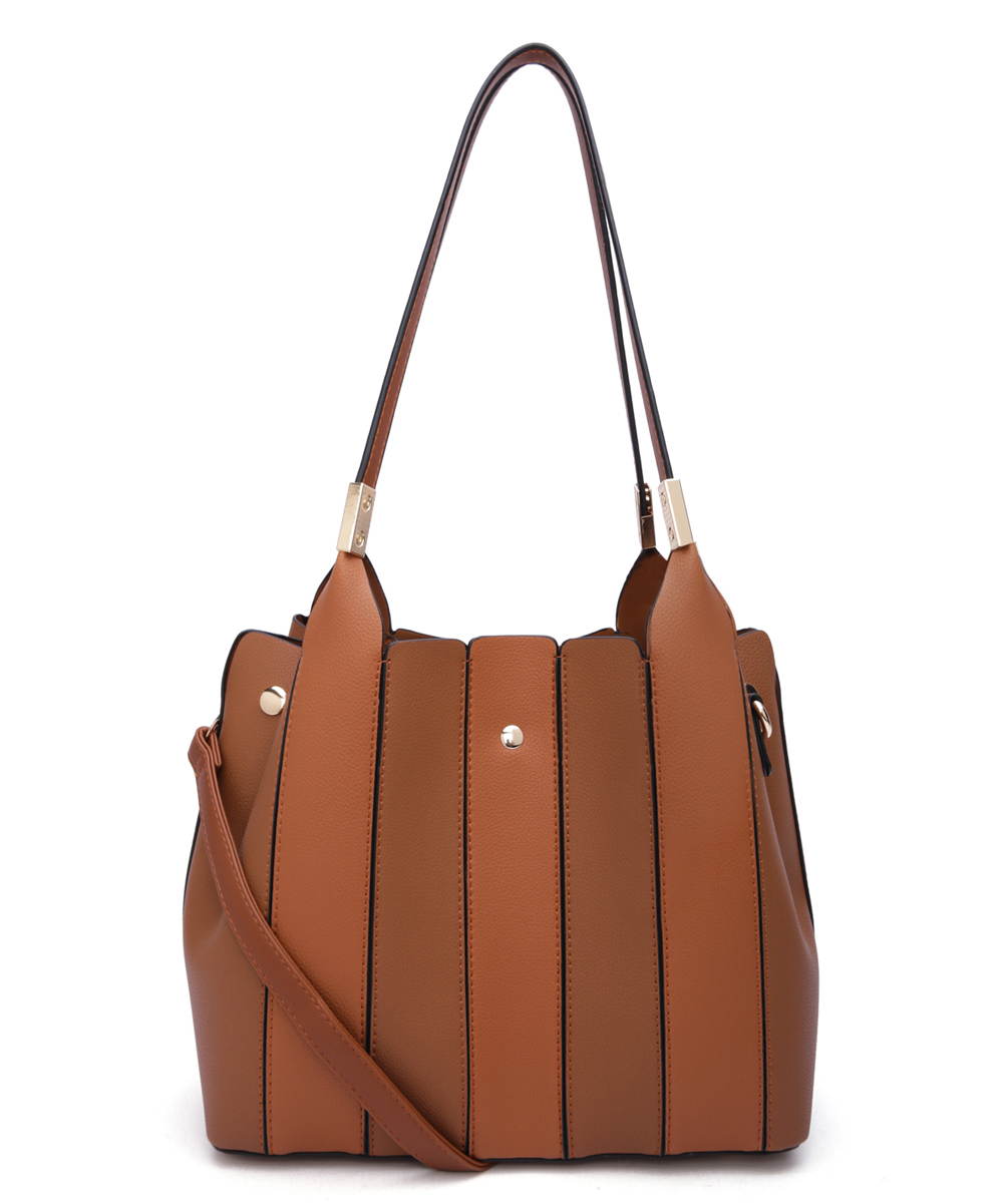 Brown & Rust Leah Tote & Cosmetic Bag