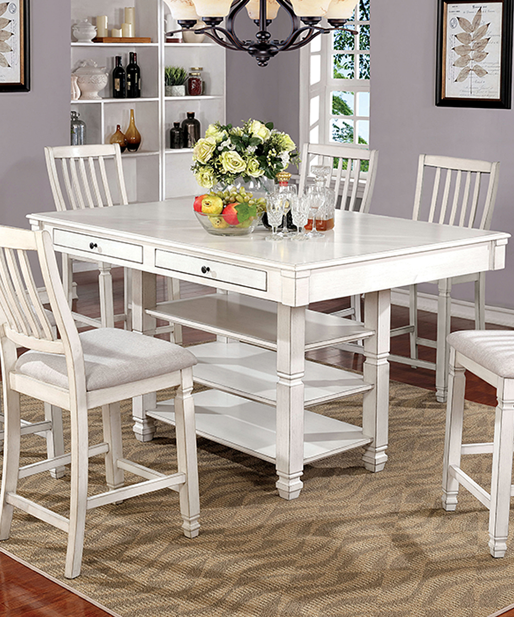 Serendipity Transitional Seven-Piece Counter Dining Table Set  d3bd4e4407