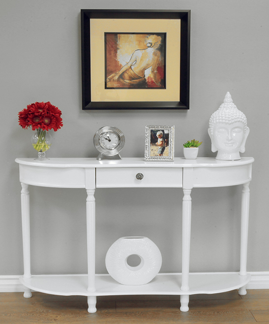 Megaware Furniture  Console and Sofa Tables White - Entry Way Console Table