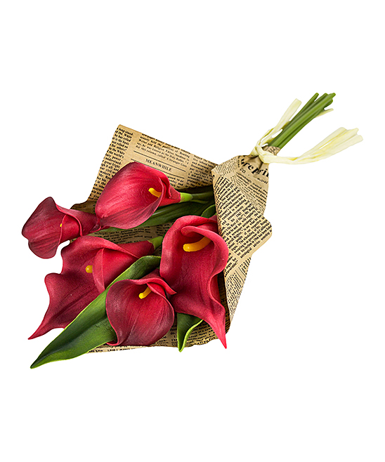 Red Calla Lily Newspaper Bundle