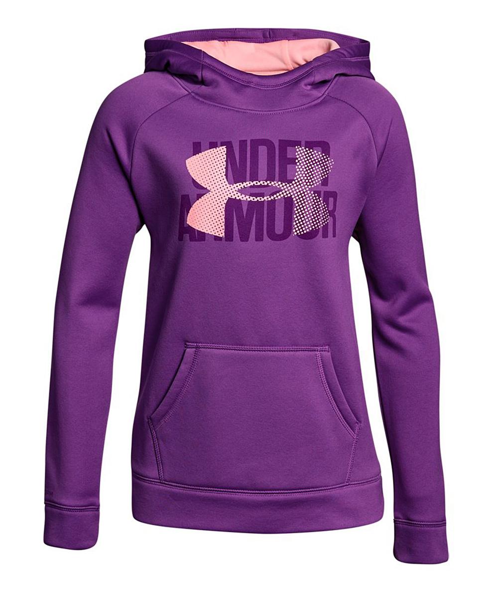 68f33fb2 Under Armour® Purple Rave Armour Fleece® Big Logo Hoodie - Girls