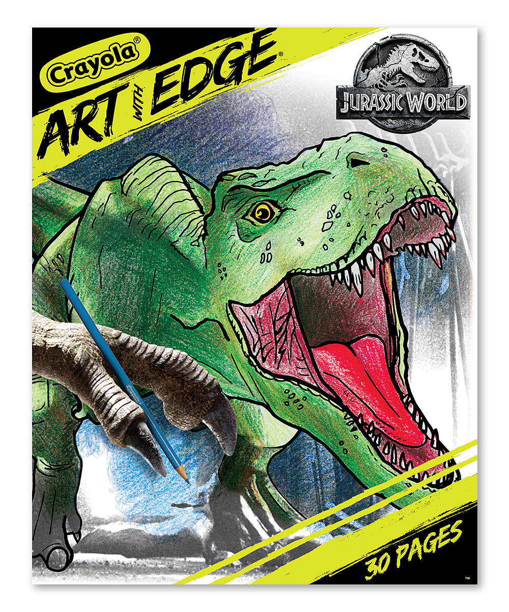 Jurassic World Art with Edge Coloring Book