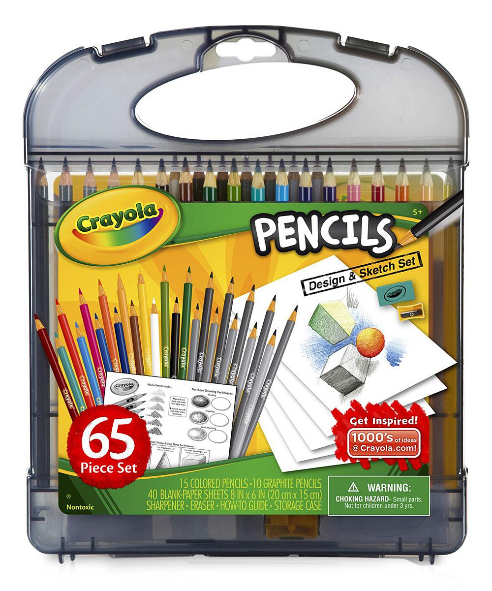 Crayola Pencil Design Sketch Kit 48 Ct Construction Paper