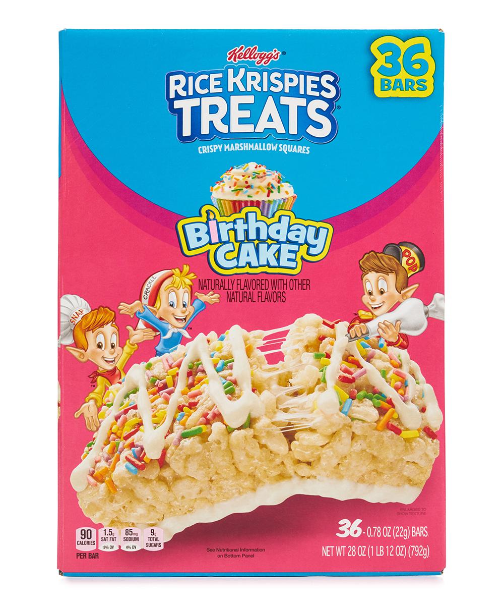 Kelloggs Birthday Cake Rice Krispies Treats