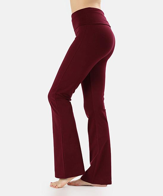 Dark Burgundy Yoga Pants - Plus