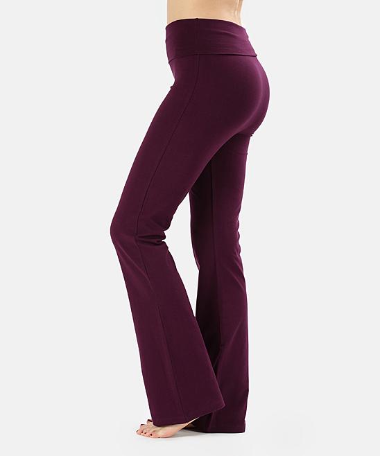 Dark Plum Yoga Pants - Plus