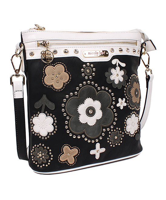 94b5b300f189 love this product Black Floral Stud Athena Crossbody Bag