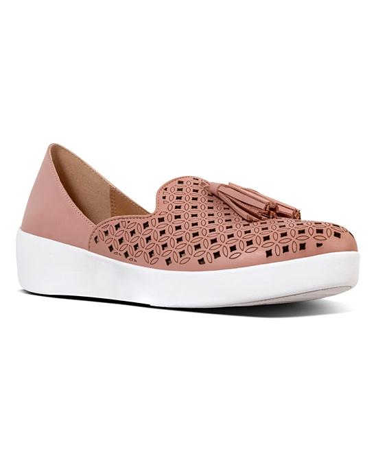 48d4109e25ef42 FitFlop Dusky Pink DOrsay Superskate Leather Loafer - Women