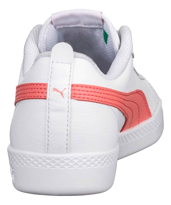 PUMA White   Shell Pink Smash v2 Leather Sneaker - Women  6f6b99782