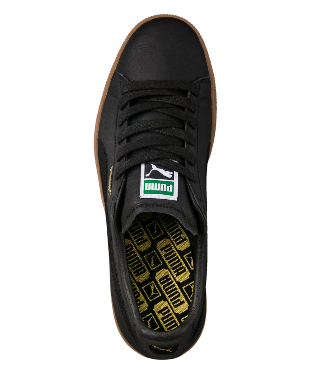 best sneakers 81e87 a5d71 ... Mens PUMA BLACK Black Basket Classic Gum Deluxe Leather Sneaker -  Alternate Image 5