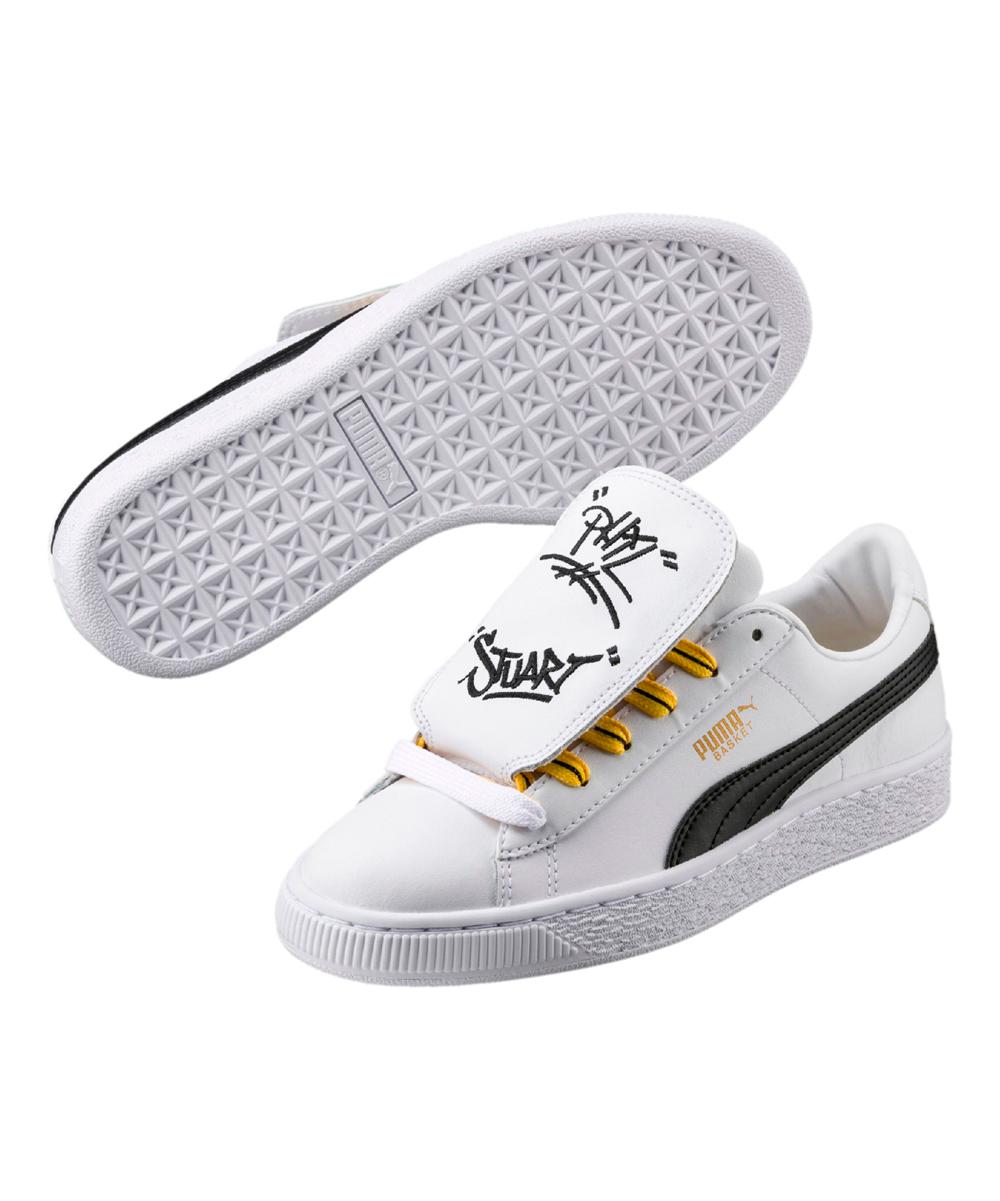 PUMA White   Yellow Minions Basket Tongue Leather Sneaker - Kids ... 4ce77c510