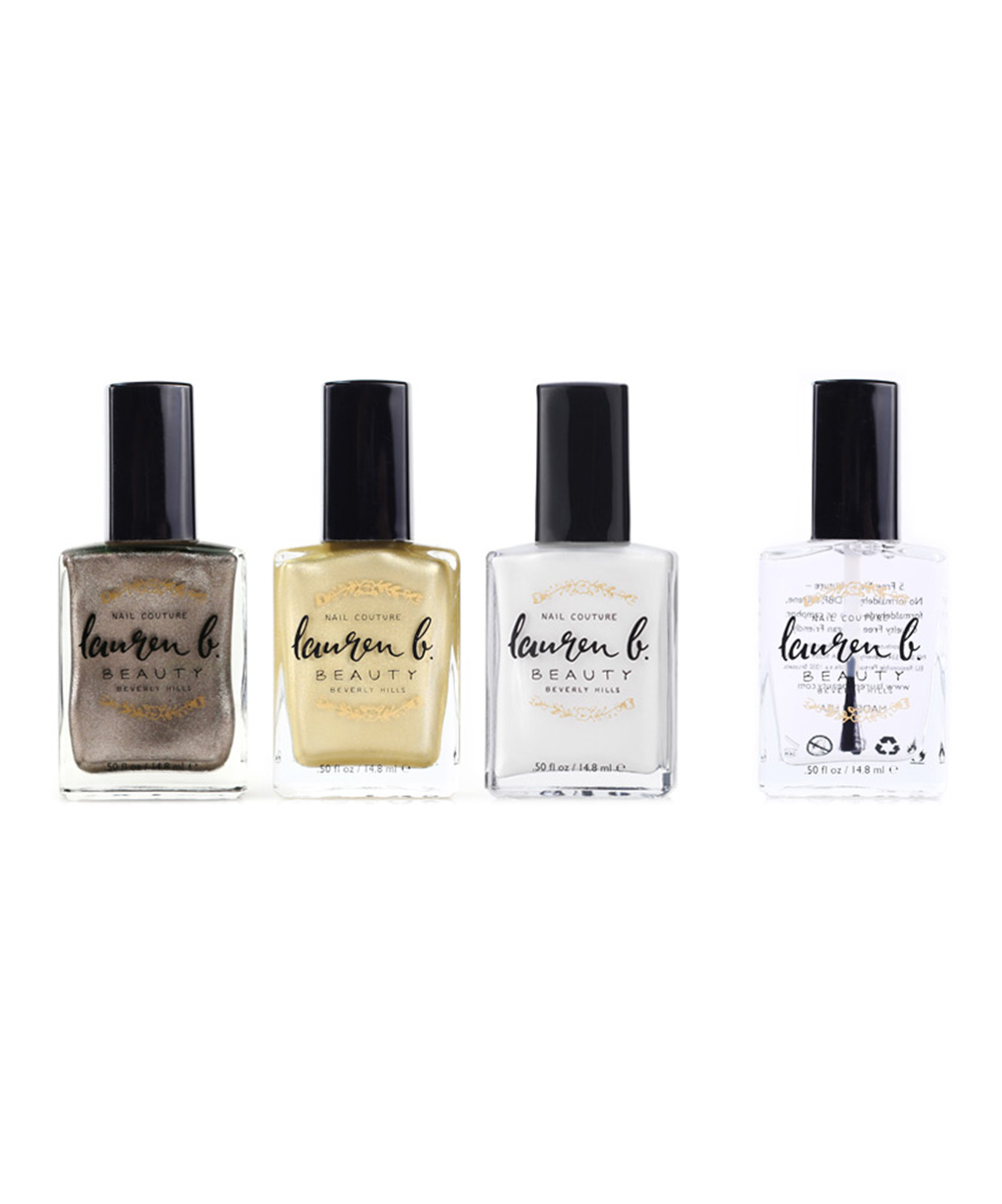Lauren B. Beauty Women's Nail Polish  - Top Trending Metallic Collection Four-Piece Set