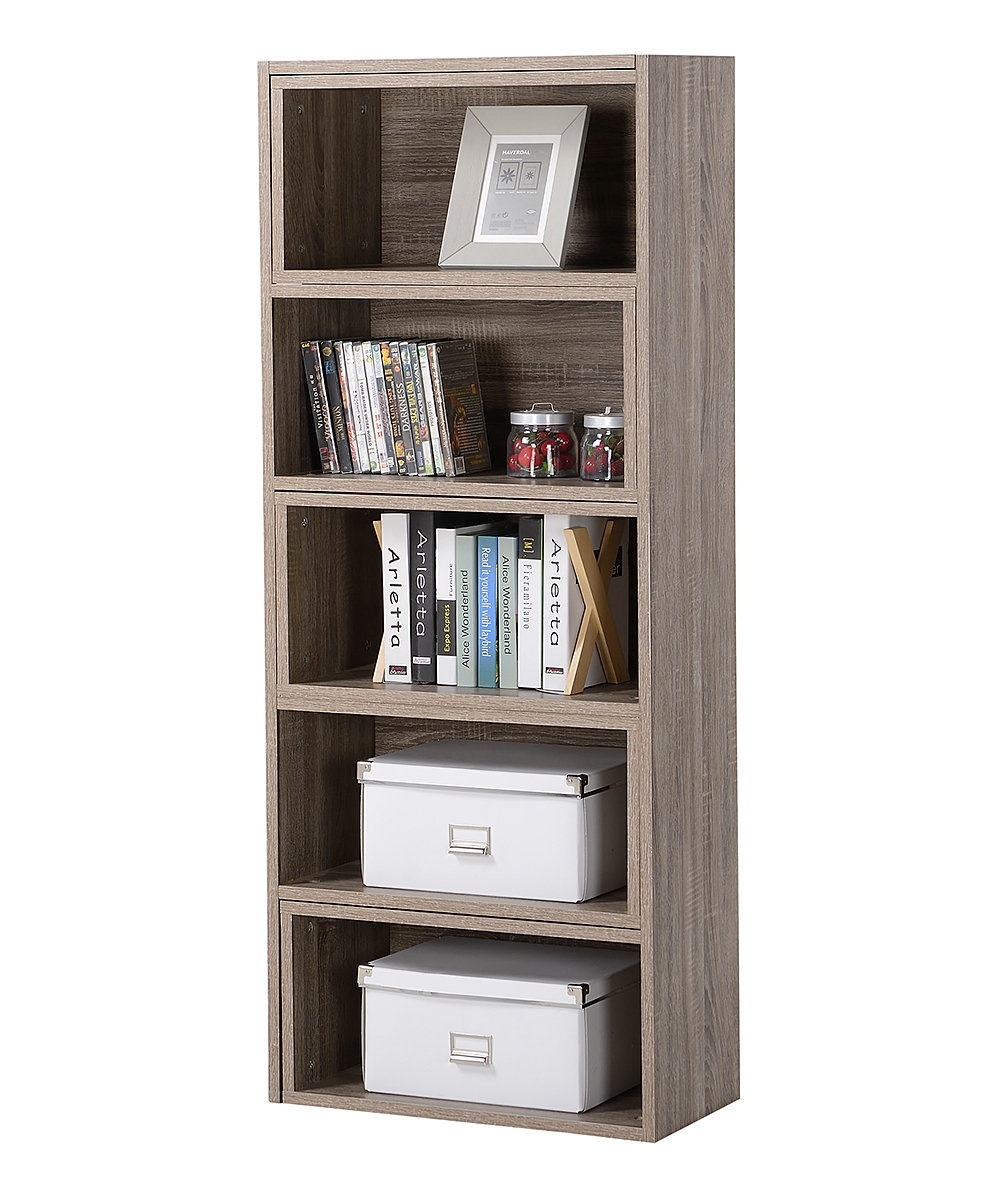 Homestar Brown Distressed Expandable Bookcase