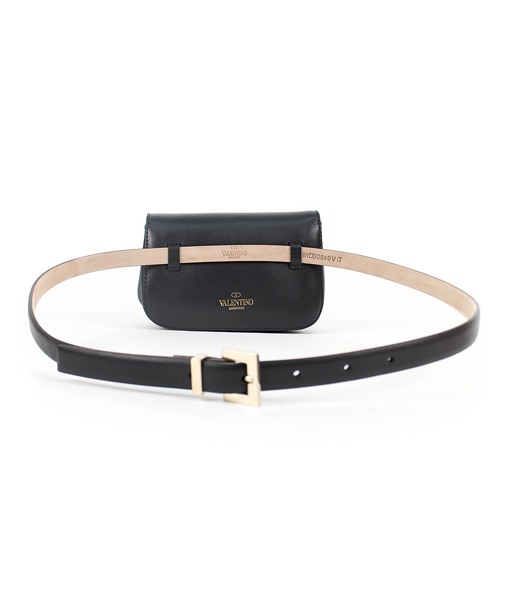 ca193275b3ce ... Womens Black Black Leather Belt Bag - Women - Alternate Image 4 ...