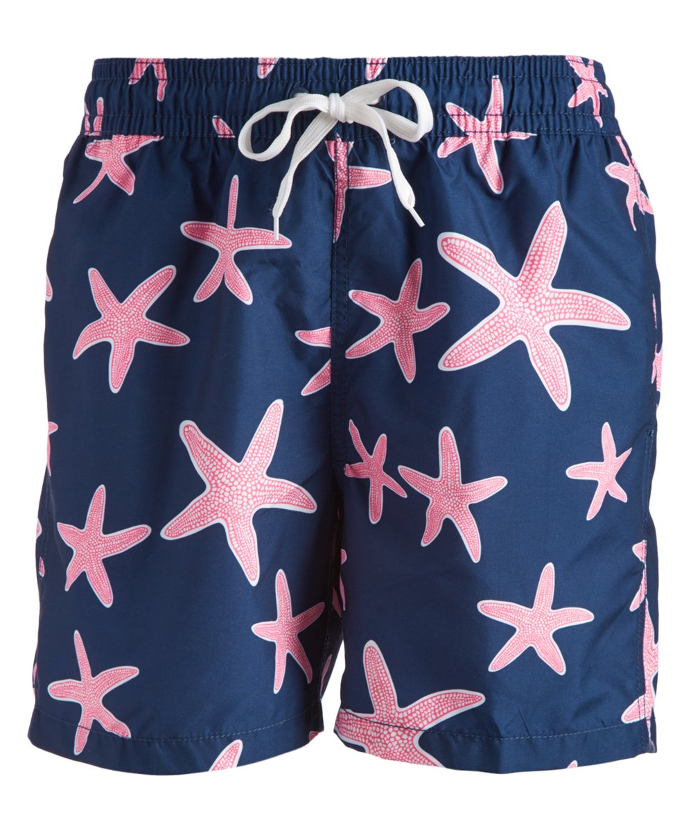 83cf41e2d54e Kanu Surf Navy   Pink Starfish Swim Trunks - Men