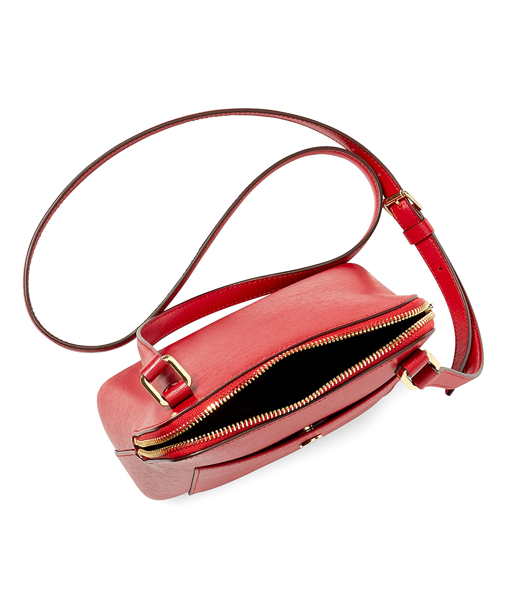 Lauren Ralph Lauren Red Newbury Bailey Leather Crossbody Bag   Zulily d3f8242c63