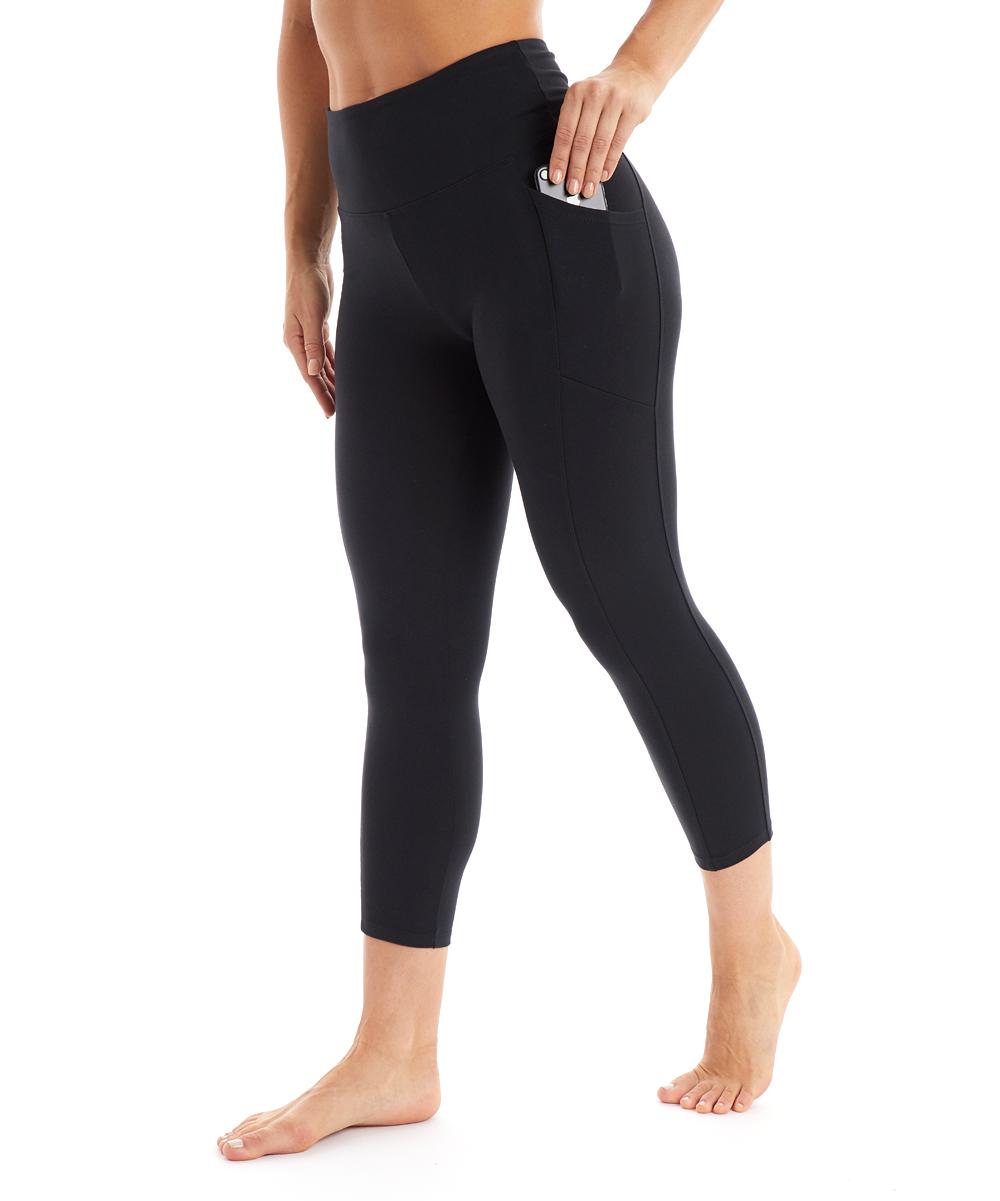ed2b64b8946093 Marika Black Eclipse Pocket High-Waist Crop Leggings - Women   Zulily