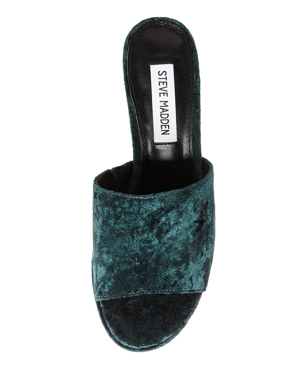 b8056c7f0bfd ... Womens GREEN-078 Green Relax Velvet Platform Sandal - Alternate Image 3  ...