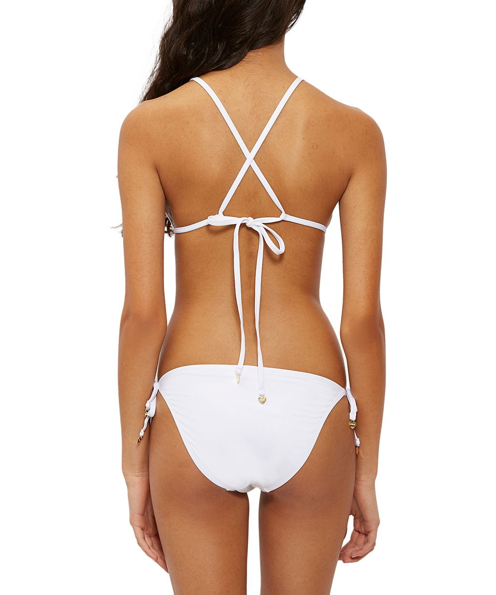1acaa76fa3 love this product White Floral Embroidered Triangle Bikini Top & Side-Tie  Bikini Bottoms - Women & Juniors