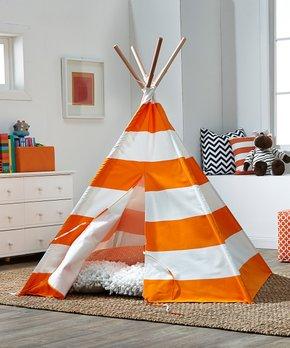 ebe6ca22c2f Merry Products | Orange Stripe Children's Tent