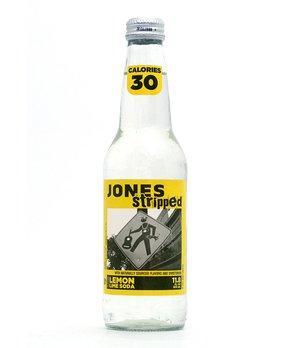 Jones Soda | Jones Stripped Lemon Lime Cane Sugar Soda - Set of 12